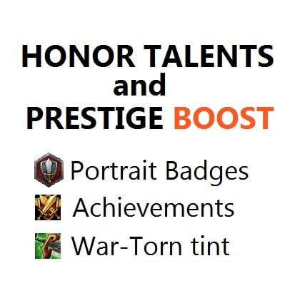 Honor & Prestige boost (+1 level)