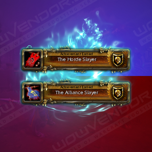 The Alliance/Horde Slayer title boost
