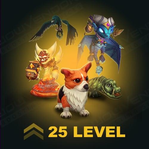 Pets level 25 Powerleveling boost