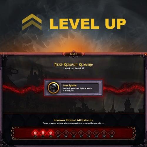 Covenant Renown max Lvl Boost